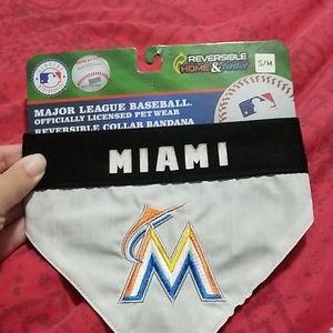 Miami Marlins Dog Reverisable Collar